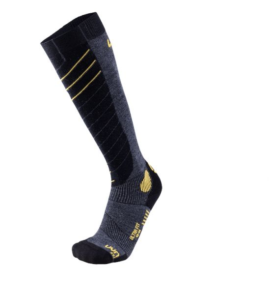 UYN Man Ski Ultra Fit Socks anthracite/yellow 2019/20